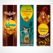 Halloween colored banners vertical — Stock Vector #54508331