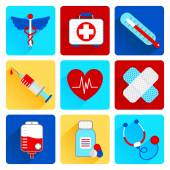 Medical flat icons set — Stock Vector