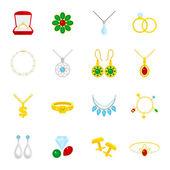 Jewelry icon flat — Stock Vector