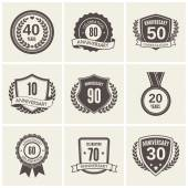 Anniversary label set — Vector de stock
