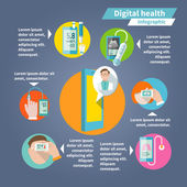 Digital health infographics — Stockvector