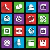 Mobile applications icons flat — Stock Vector