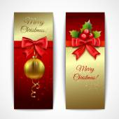 Christmas banners vertical — Stock Vector