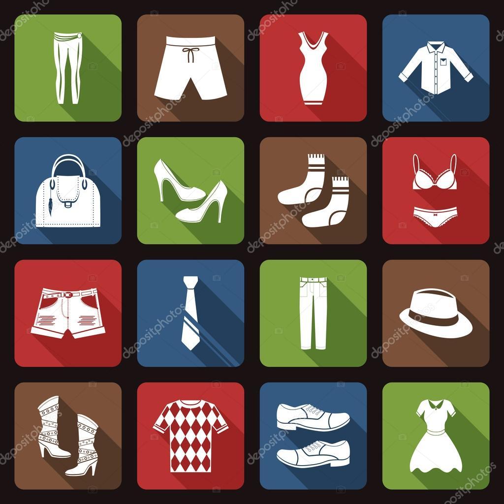 Значок одежда и обувь