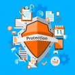 Data protection concept — Stock Vector #55349199