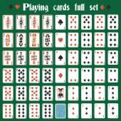 Pełny zestaw kart do gry — Wektor stockowy