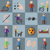 Disabled icons set — Stock Vector