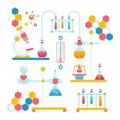 Chemistry infographics composition — Stock Vector