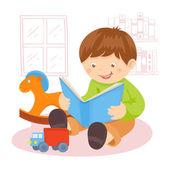 Bruiloft decorlibro de lectura chico — Vector de stock