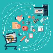 Online shopping concept — Stock Vector