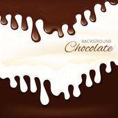 Milk chocolate splash — Stock Vector