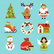 Christmas icons set — Stock Vector #55381819
