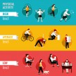 Постер, плакат: Physical activity horizontal banners