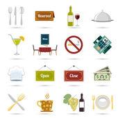 Restaurant icons set — Stock Vector