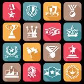 Award Icons Set — Stock Vector