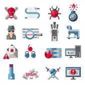 Hacker icons set — Stock Vector