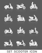 Scooter Icons Set — Wektor stockowy