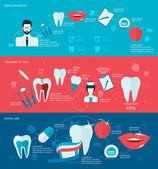 Teeth banner set — Stock Vector