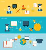 Education banners set — Stock Vector
