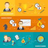 Business strategy planning banner set — Vetorial Stock