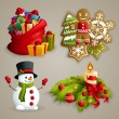 Christmas icons set — Stock Vector #55434147