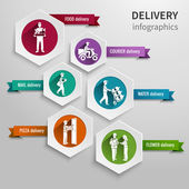 Delivery infographic set — Stock Vector