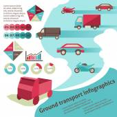 Ground transport infographics — Cтоковый вектор