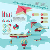 Air transport infographic — Stock Vector