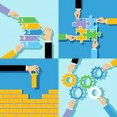 Business hands concepts set — Stock Vector