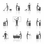 Cleaning People Set — Vector de stock