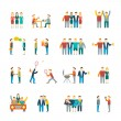 Friends icons flat — Stock Vector #55518047