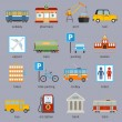 City infrastructure icons — Stock Vector #55518211