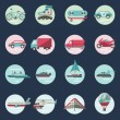 Transport icons round set — Stock Vector #55518249
