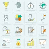 Business strategy planning icon flat line — Vetorial Stock