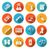 Detective Icons Set — Stock Vector