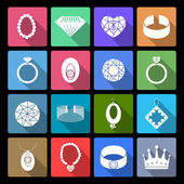 Jewelry Icons Set — Stock Vector