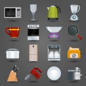 Kitchen appliances icons — Stock Vector