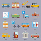 City infrastructure icons — Stock vektor