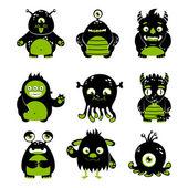 Cute monsters set — Stock Vector