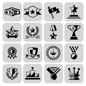 Award icons set black — Stock Vector