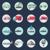 Transport icons round set — Cтоковый вектор