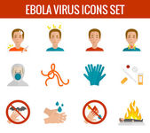 Ebola virus icons flat — Stock vektor