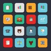 Finance exchange icons flat — Vector de stock
