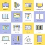 Design Flat Line Icons — Stock Vector #55521175