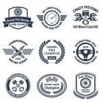 Racing emblems black — Stock Vector #55536003