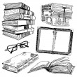 Set of books sketch — Stock Vector #55537463
