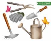 Garden tools set — Stock Vector