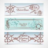 Yachting banners set — Stock vektor