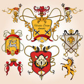 Heraldic design colored — Stock Vector
