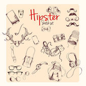 Hipster sketch set — Stock Vector